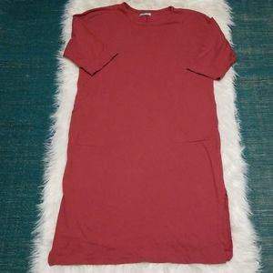Zara Collection Cranberry Dress with pockets
